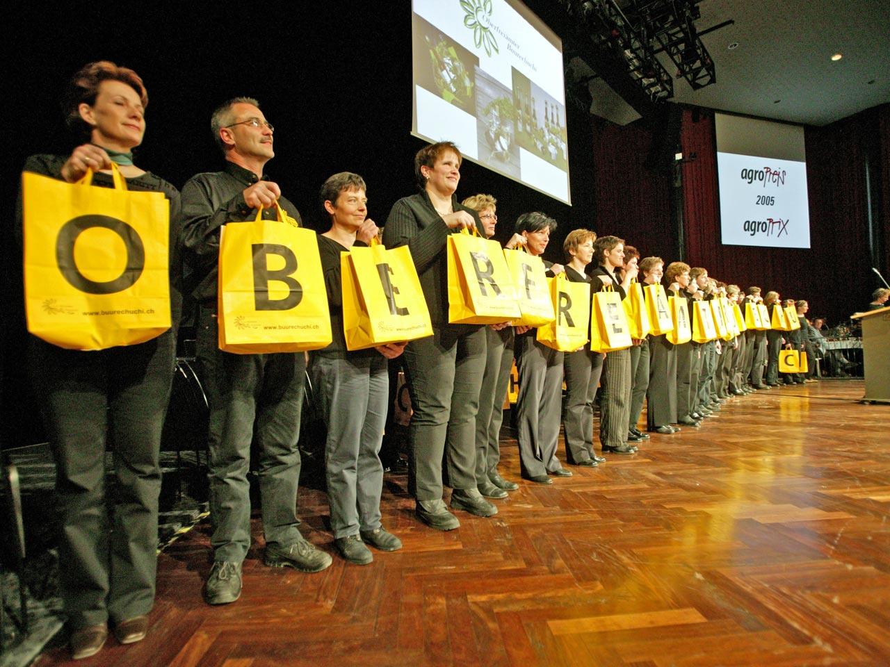 2005 – Wir erreichen den 2. Rang beim Agro-Preis in Bern.